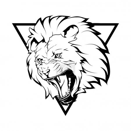 lion  logo,  illustration