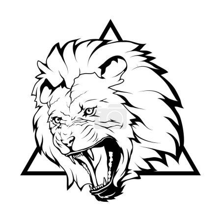 lion  logo,  illustration