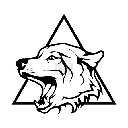 wolf logo,  illustration