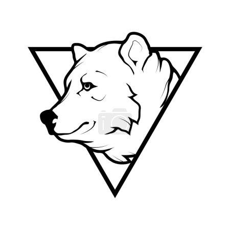 bear  logo,  illustration