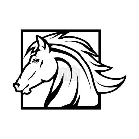 horse logo, llustration