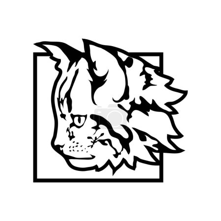 cat logo, illustration