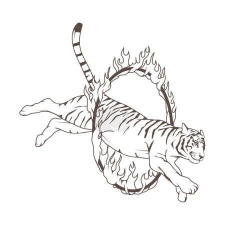 Logo of circus tiger