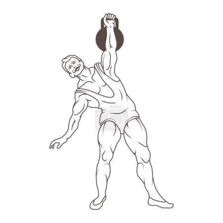 Circus athlete illustration