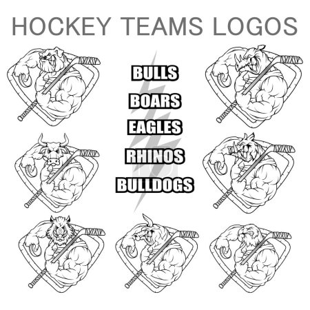 hockey teams logo template