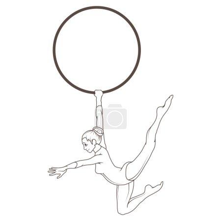 Circus acrobat illustration