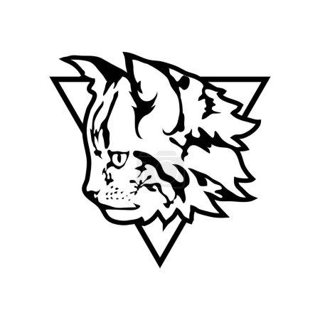 cat logo, illustration