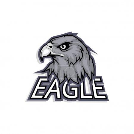 Illustration for Eagle head Logo, vector illustration - Royalty Free Image