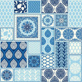 Seamless background patchwork tiles