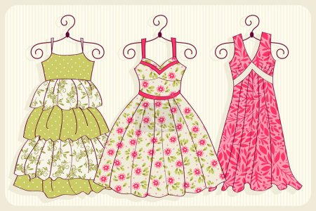 colorful dresses on hangers