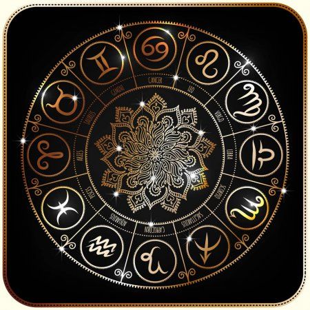 Illustration for Set of Symbol Zodiac Signs, Zodiac icons. Freehand drawing - Royalty Free Image
