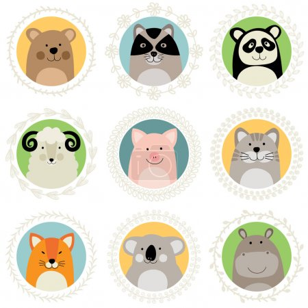 Photo for Vector illustration of cute cartoon animals - Royalty Free Image