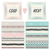 pillows and seamless patterns