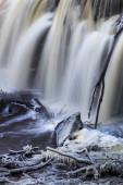 Beautiful waterfall at winter season