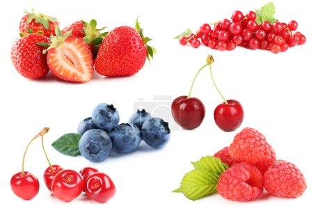 Blueberries, strawberries and raspberries