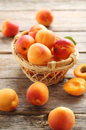 Ripe apricots fruits