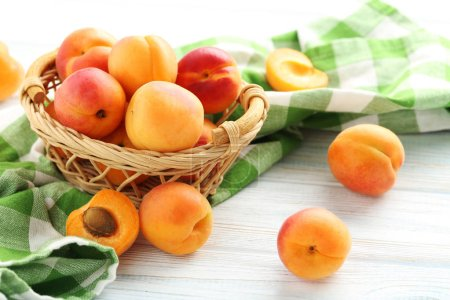 Ripe apricots fruit