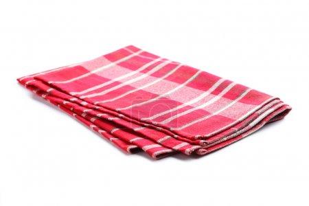 Photo for Folded napkin on white background - Royalty Free Image