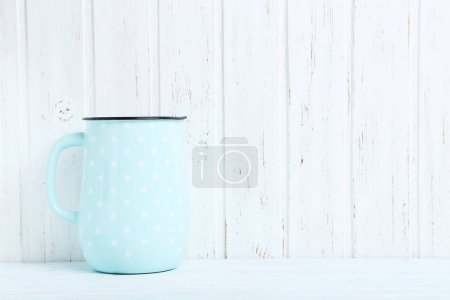 Blue jug  with white dots