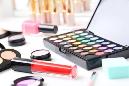 Different makeup cosmetics