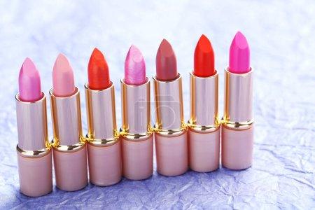 Pile of colorful lipsticks