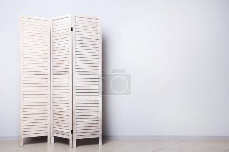 Wooden folding screen