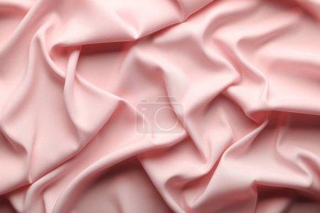 Photo pour Fond de tissu satin rose - image libre de droit