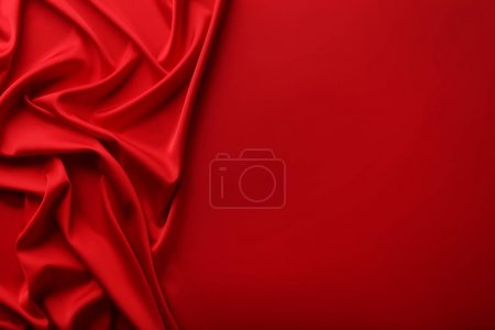 Background of red satin fabric