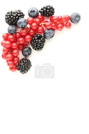 Photo for Ripe and sweet berries on white background - Royalty Free Image