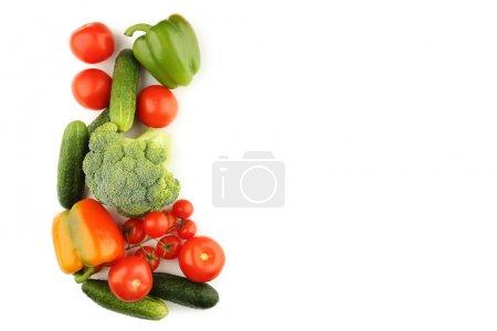 Foto de Verduras maduras aislados sobre fondo blanco - Imagen libre de derechos