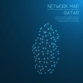 Qatar network map