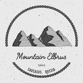 Elbrus in Caucasus Russia outdoor adventure logo