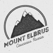 Elbrus in Caucasus Russia outdoor adventure logo