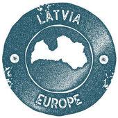 Latvia map vintage stamp Retro style handmade label Latvia badge or element for travel souvenirs