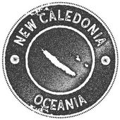 New Caledonia map vintage stamp Retro style handmade label badge or element for travel souvenirs