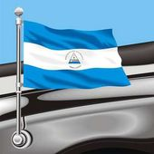 Vector clip art flag Nicaragua