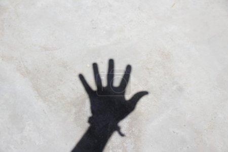 Human hand shadow