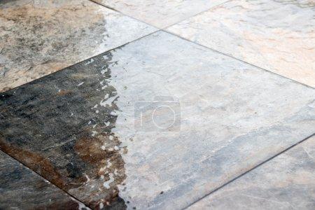 Wet stone floor photograph
