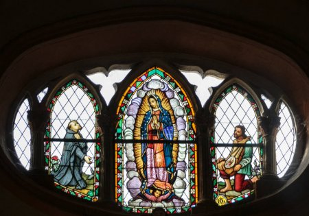 Basilica de Guadalupe stained glass window