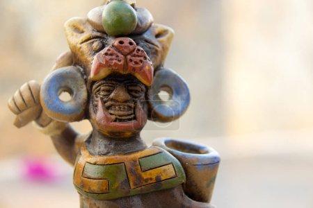 Aztec mexican warrior statue