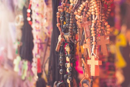 religious Rosaries at a market