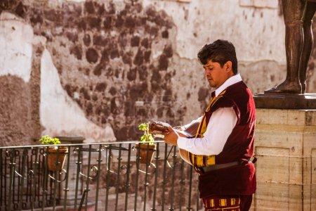 Musician at traditional mexican Callejoneada