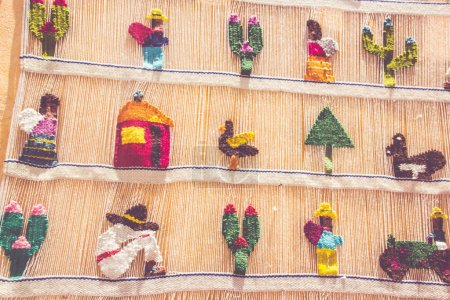 Traditional fabrics from Bernal Queretaro Mexico