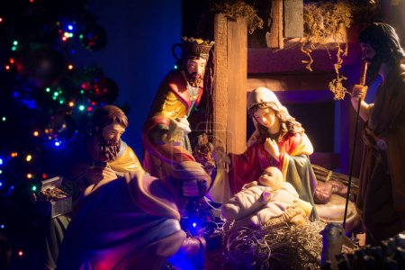 Ceramic figures of Nativity and wise men