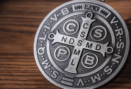 Saint Benedict medall symbols