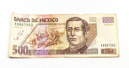 Mexican bill of five hundred pesos