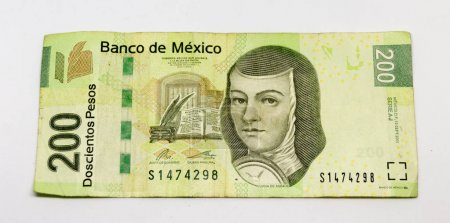 Mexican bill of two hundred pesos