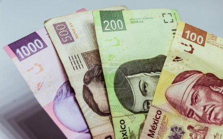 Mexican bills of diferent values