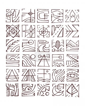 Abstract indigenous symbols