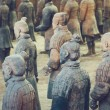 Terracotta Army of soldier sculptures group  in Xi...